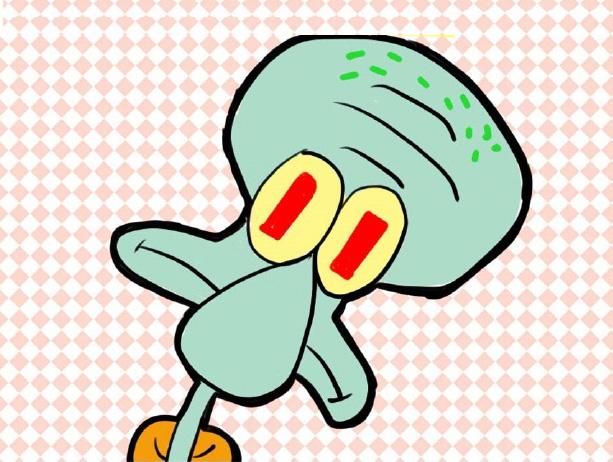 章鱼哥简笔画步骤图 章鱼哥简笔画怎么画 海绵宝宝章鱼哥儿童卡通画画