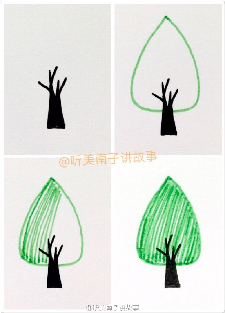 小树简笔画图片大全 小树怎么画简笔画图教程 儿童画小树的画法