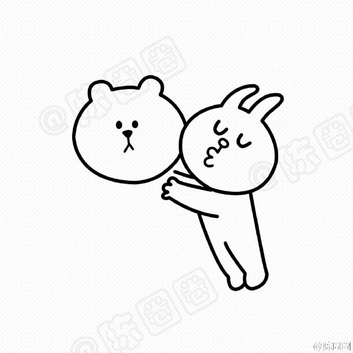 布朗熊和可妮兔的简笔画教程 布朗熊和可妮兔怎么画 布朗熊和可妮兔的