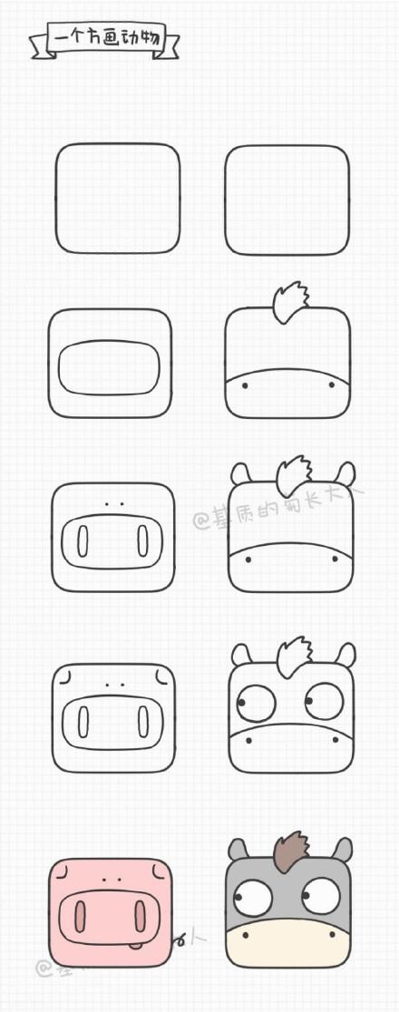 小方块能画什么 超多可爱小ag游戏直营网|平台的简笔画头像画法教程